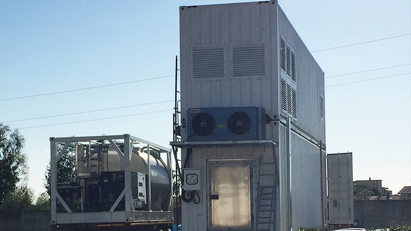 Containerized ice plant