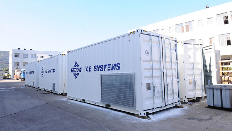 Containerized flake ice plant